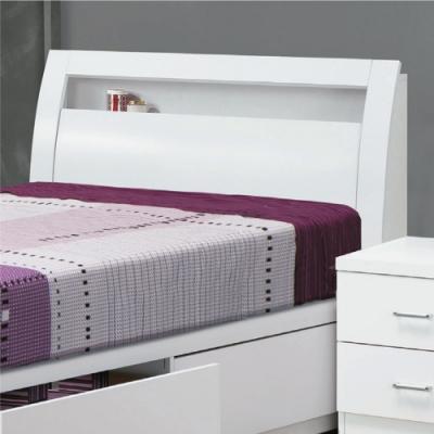 綠活居 尼爾德 現代白3.5尺單人床頭箱(不含床底+不含床墊)-108x27x101cm免組