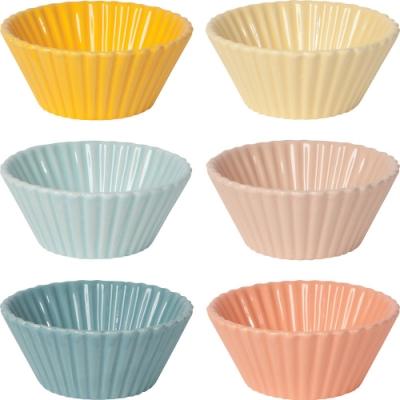 《NOW》陶瓷布丁烤杯6入(粉雲)