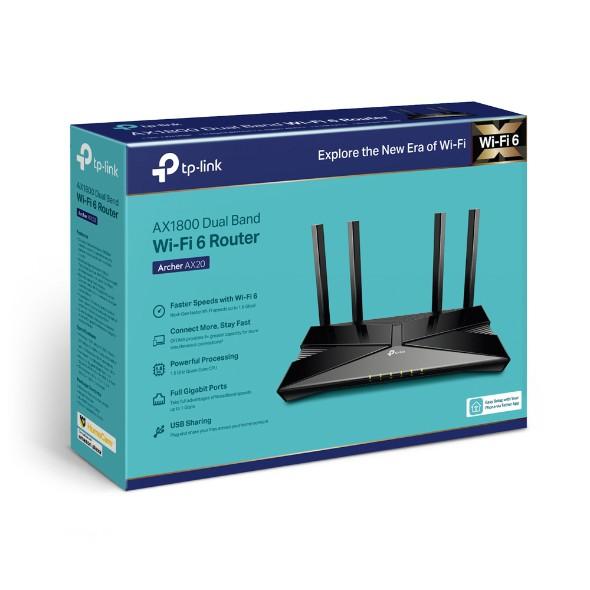 TP-Link Archer AX20 AX1800 wifi 6 802.11ax Gigabit雙頻無線分享器路由器