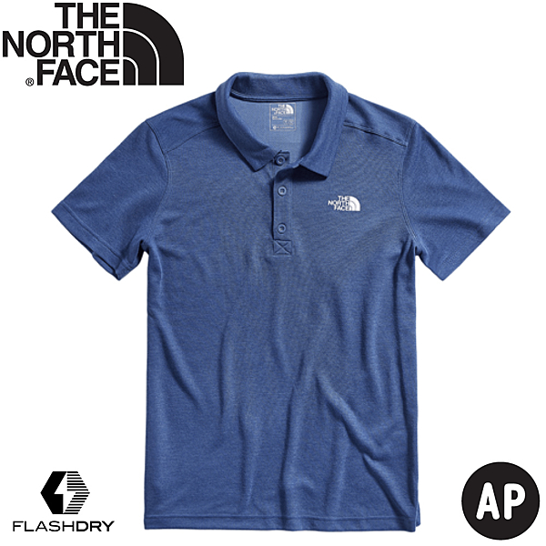 The North Face 男   短袖POLO衫  蔭藍  4NC8-HKW