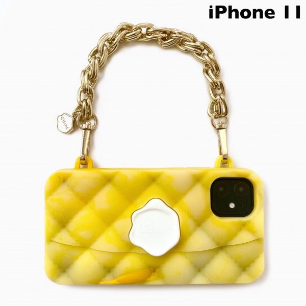 雲彩雙鏈晚宴包(黃)-IPhone 11