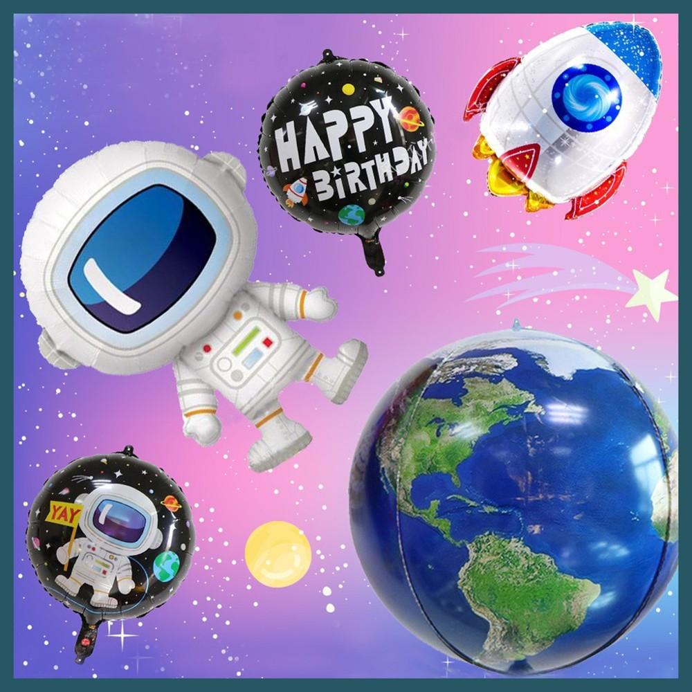 現貨太空造型系列 火箭 太空人地球 宇宙 外太空 生日 氣球派對 佈置氣球快易送