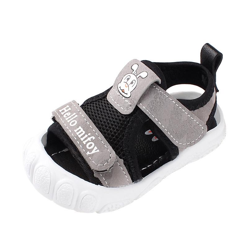 夏童涼鞋包頭學步涼鞋軟底男小女童沙灘涼鞋