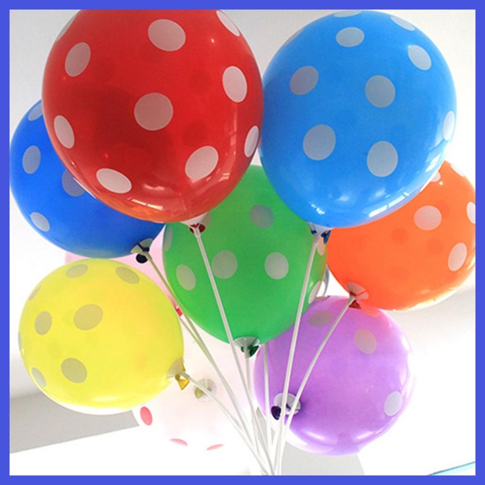 現貨c12吋點點印花氣球 圓點 生日氣球 空飄球 婚紗外拍 生日佈置 會場佈置氣球快易送