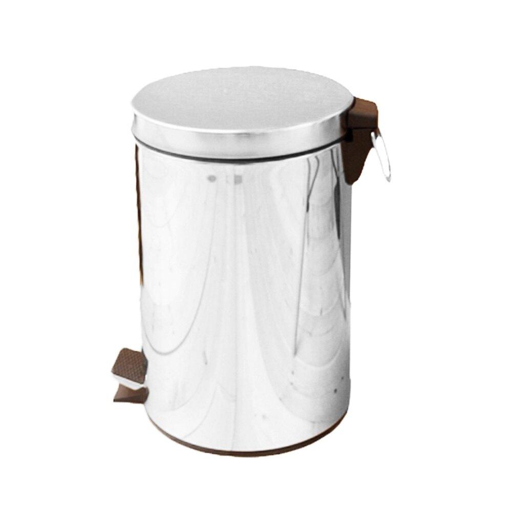 優雅腳踏式垃圾桶12L限時下殺$480元/回收桶/垃圾桶/紙簍/台灣製造/不鏽鋼【JL精品工坊】