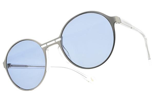 CARIN 太陽眼鏡 LOHAN C1 (霧銀-透明-藍鏡片) 韓星秀智代言 復古嬉皮圓框款 墨鏡 # 金橘眼鏡