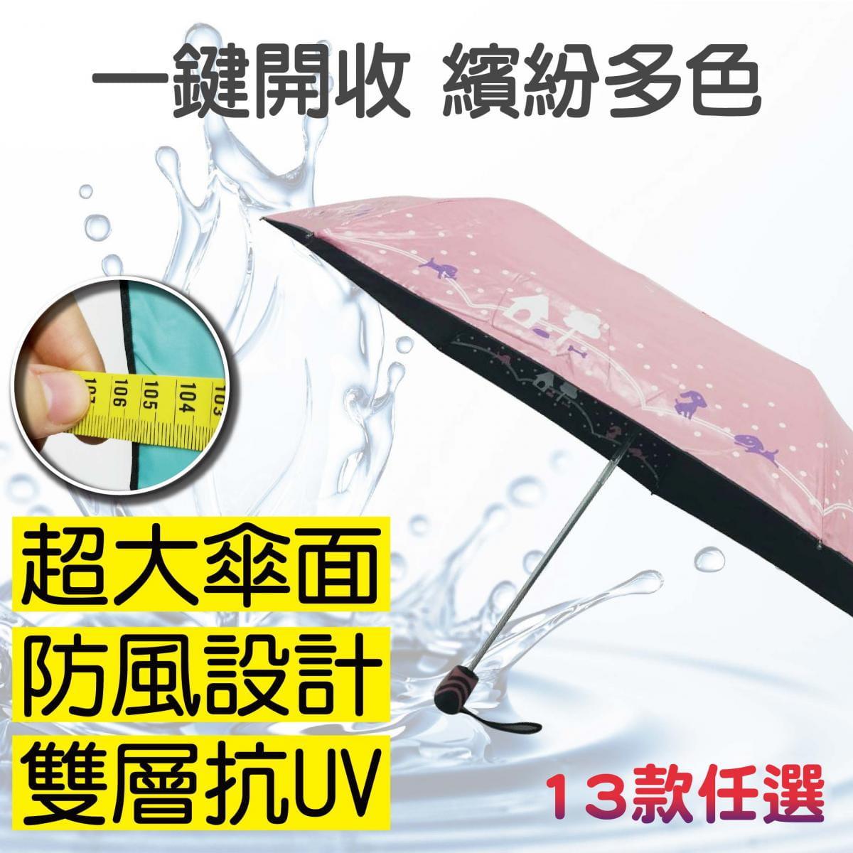雙層抗UV大傘面自動開收傘