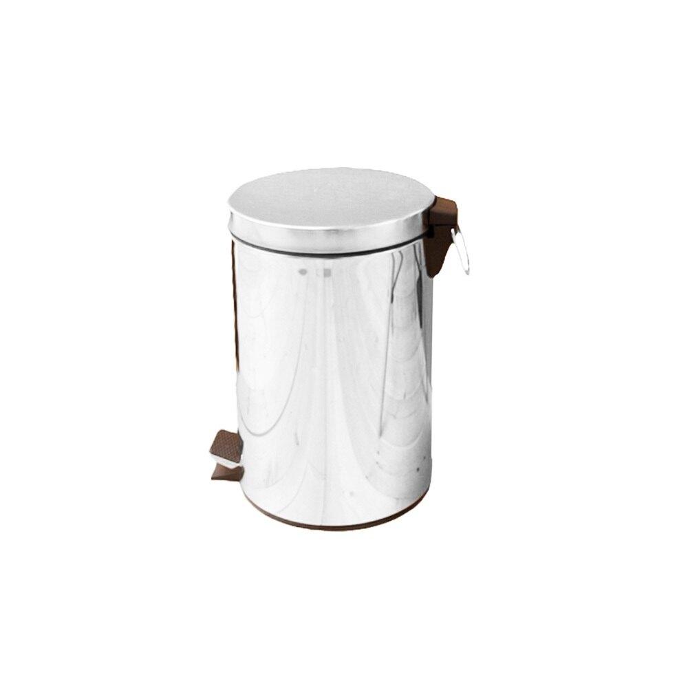 優雅腳踏式垃圾桶5公升/回收桶/垃圾桶/紙簍/台灣製造/不銹鋼【JL精品工坊】