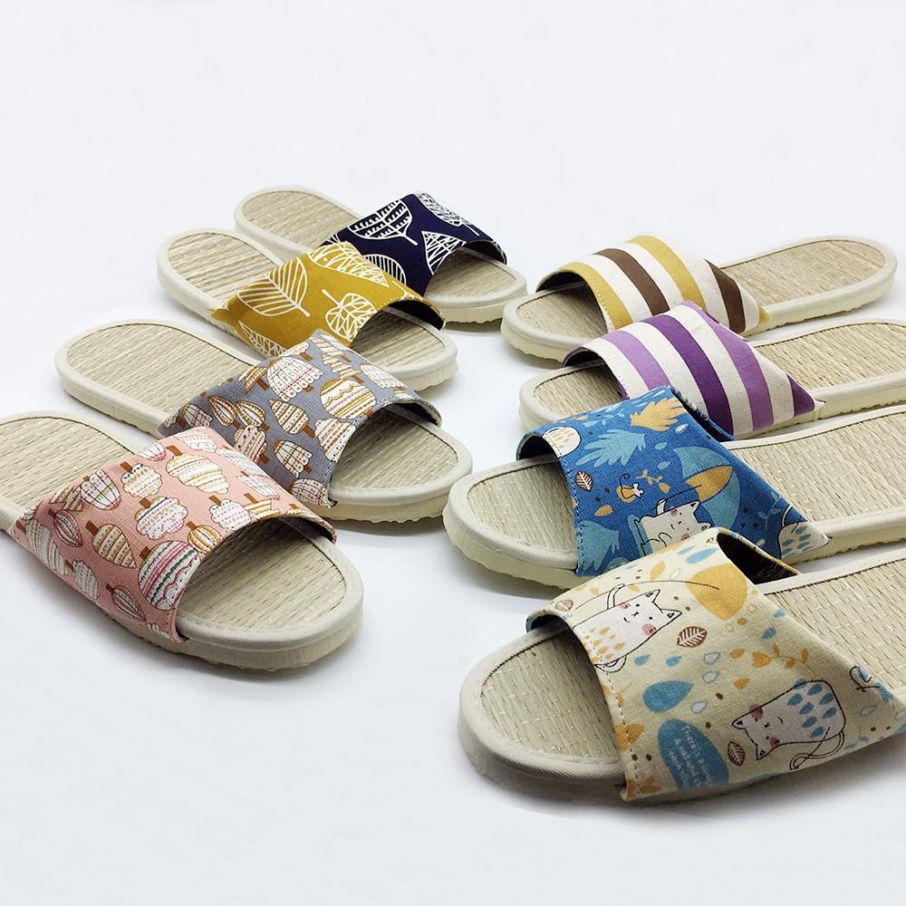 【iSlippers】小時光-真草蓆室內拖鞋-台灣製造-4雙以上$99/雙
