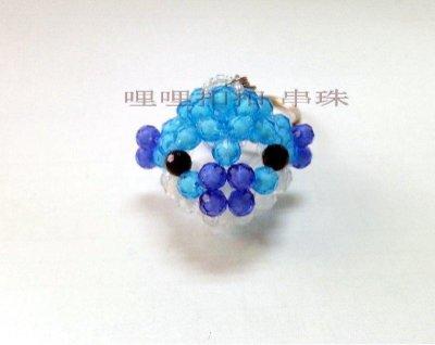 【串珠】珠中珠 吊飾 手工串珠 5m河豚成品 小河豚 鑰匙圈 串珠材料包 串珠成品