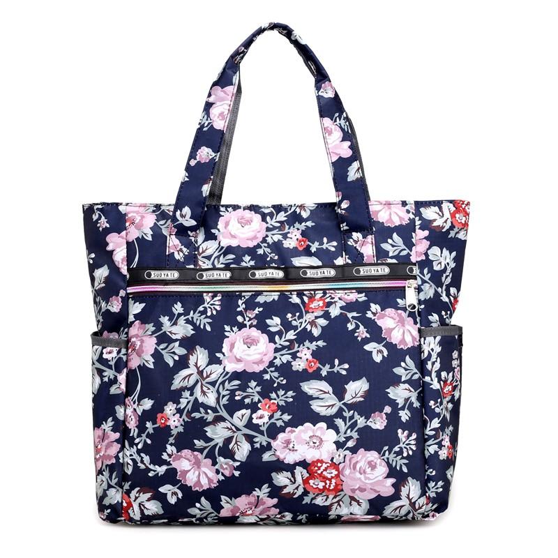 尼龍手提包 Z 新品大包包牛津帆布包防水購物袋大容量花色單肩手提包女包媽媽包