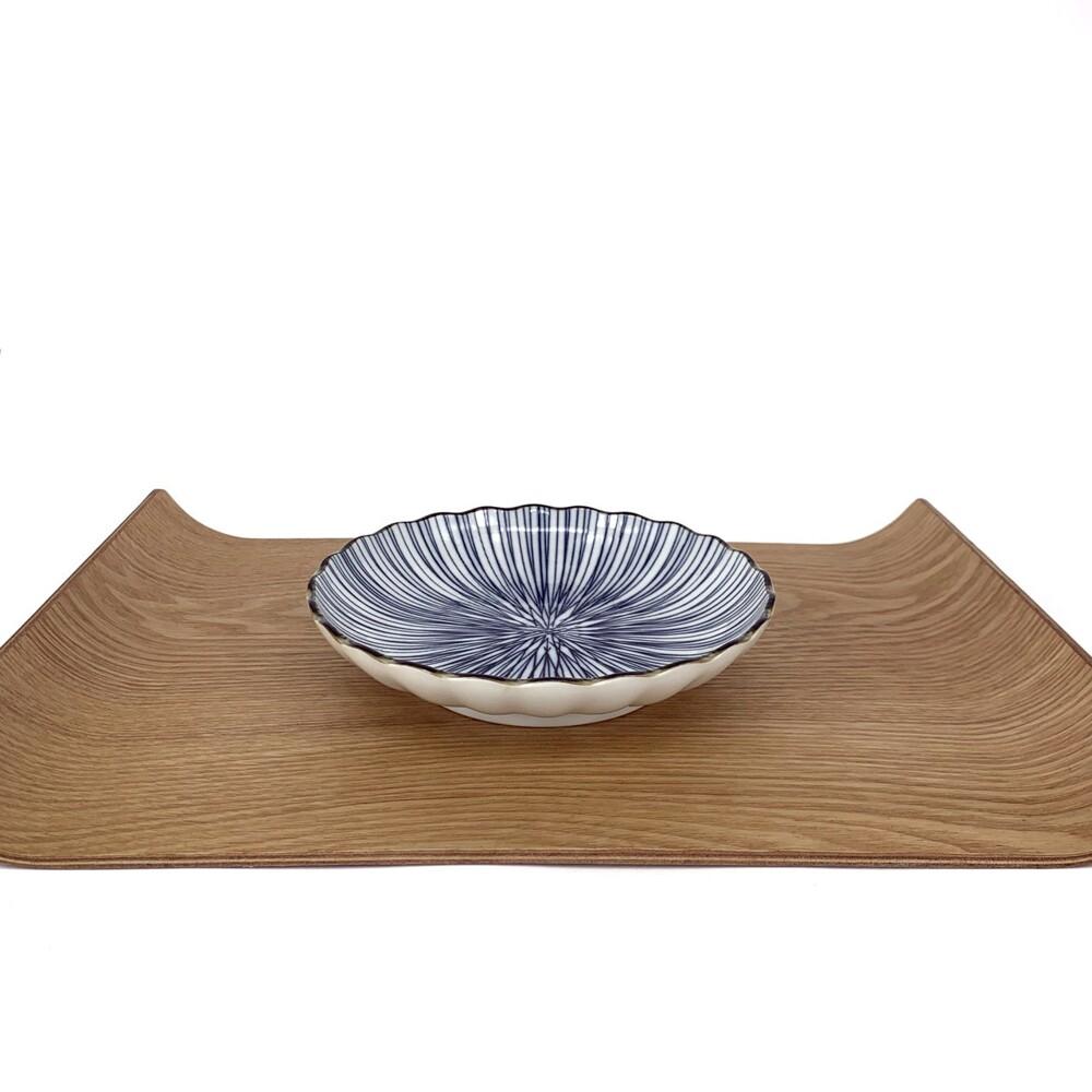 三峰 細十草菊型6.8深皿