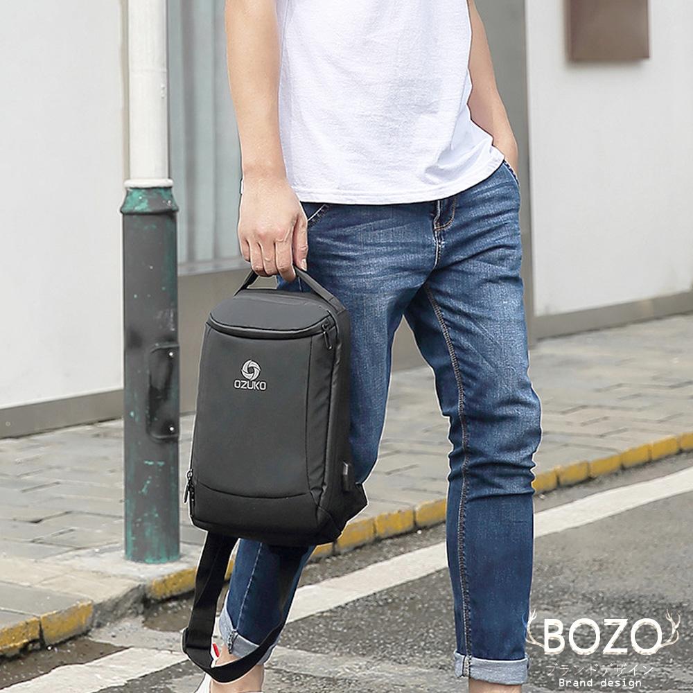 【BOZO伯樂】進口時尚透氣Abie艾比胸背包B6049-經典黑