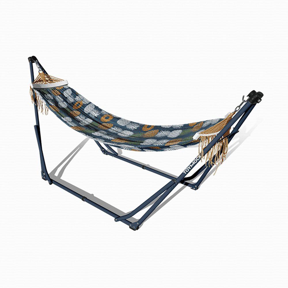 TOYMOCK 露營 野餐 風格折疊吊床 (花色 : Tropical Grace )日本原裝進口