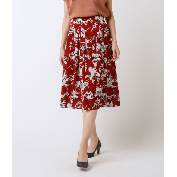 NEWYORKER(ニューヨーカー)/フラワープリント 美人フレアスカート