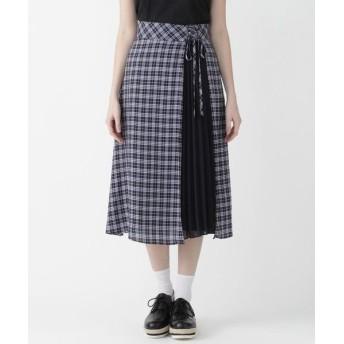 BLUE LABEL / BLACK LABEL CRESTBRIDGE/ブルーレーベル / ブラックレーベル・クレストブリッジ マイクロチェックドレープローンスカート ネイビー3 38