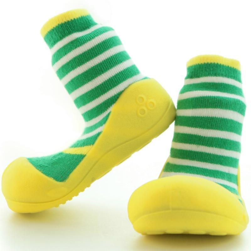 快樂學步鞋-黃綠圈圈- XL