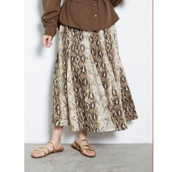 【COTORICA.:スカート】パイソン柄スカート