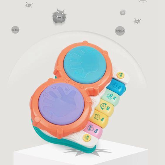 貝恩施寶寶拍拍鼓兒童益智電動音樂手拍鼓嬰兒玩具0-1歲6-12個月