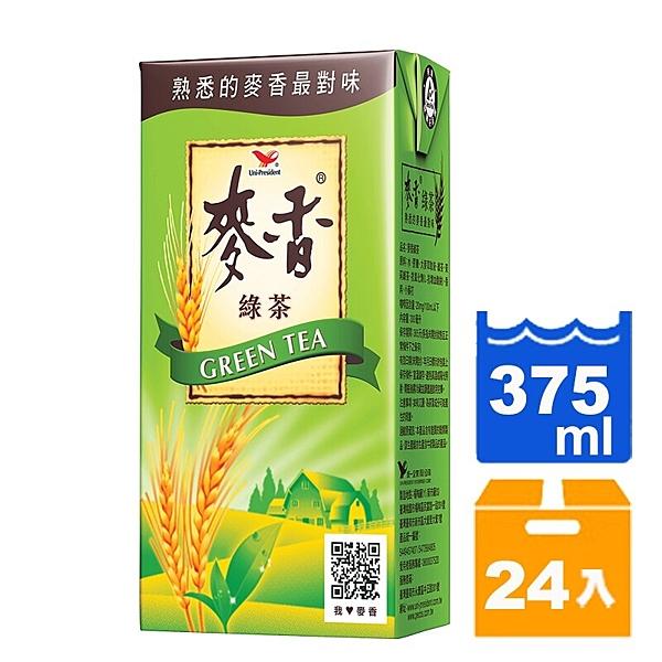 統一麥香綠茶375ml(24入)/箱