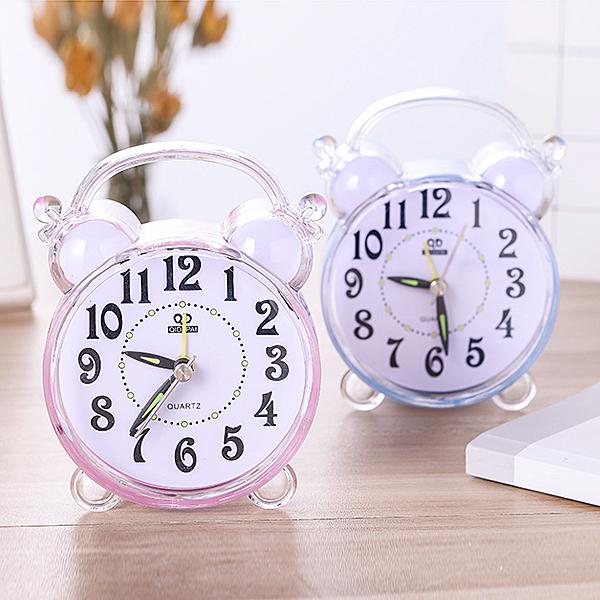 定時鬧鐘 居家可愛靜音時鐘學生宿舍床頭鬧鐘家用簡約定時小台鐘臥室座鐘 維多原創