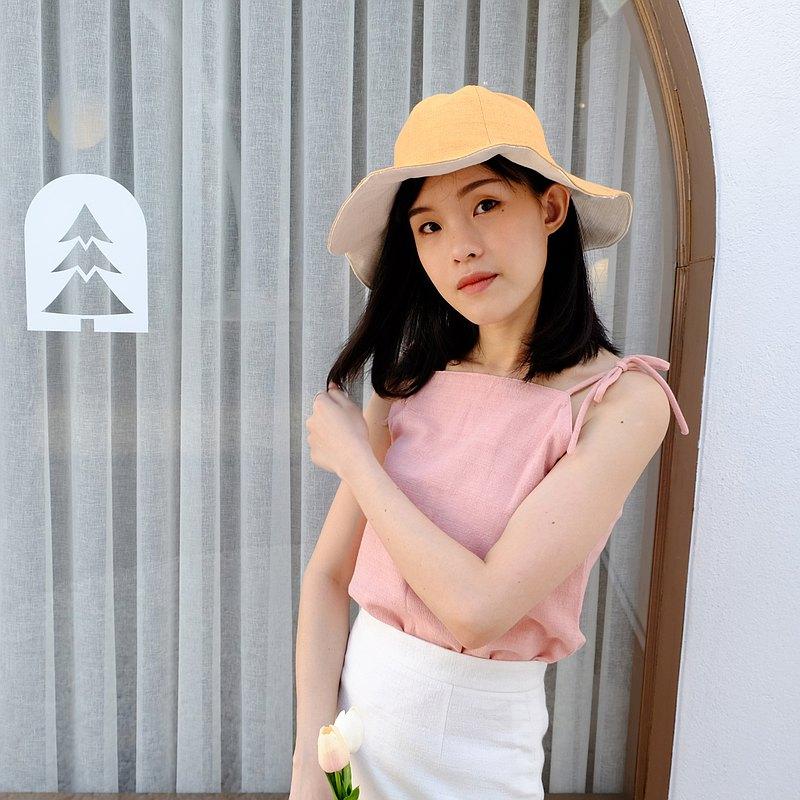 Summer Melody鬱金香帽子-柔和的黃色