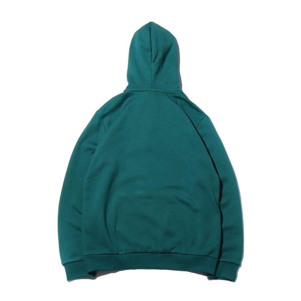 ADIDAS TREFOIL HOODIE 綠 白LOGO 棉 帽T 男 (布魯克林) EJ9681