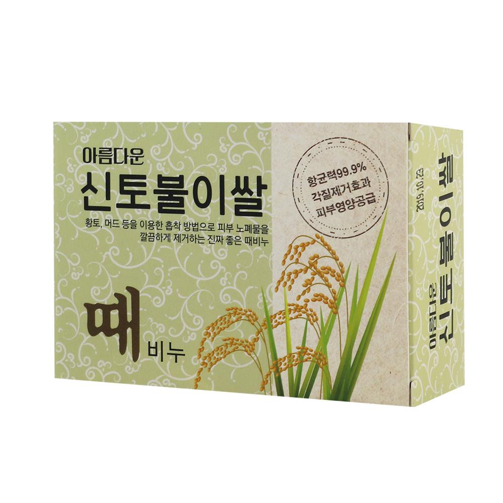 韓國Sungwon 奇蹟仙女去角質搓仙皂100g (大米)