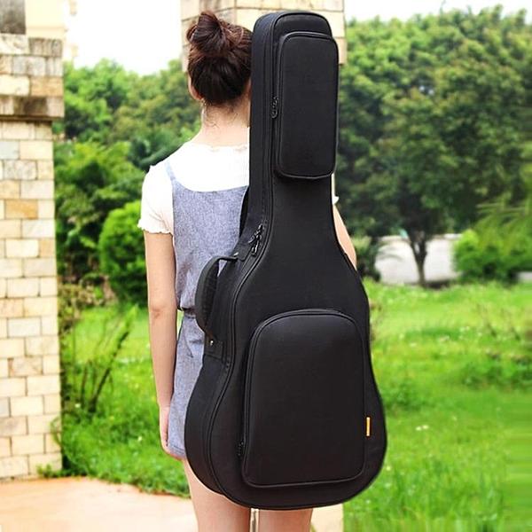 ruiz魯伊斯加厚加棉民謠木吉他包39寸40寸41寸雙肩琴包防水背包 後街五號