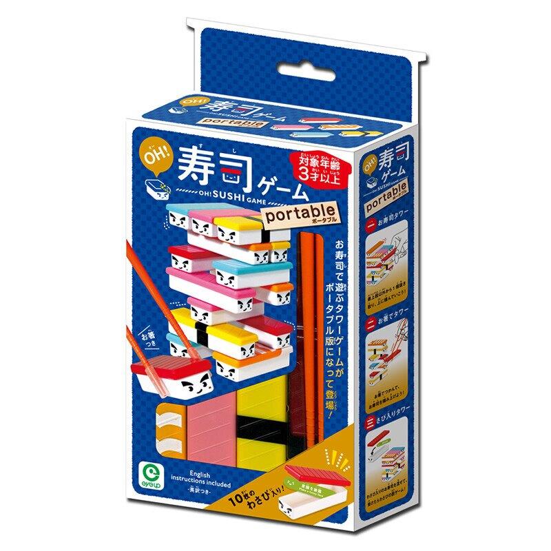 筷子夾壽司 疊疊樂 平衡遊戲 對戰懲罰遊戲 日本正版 桌遊!