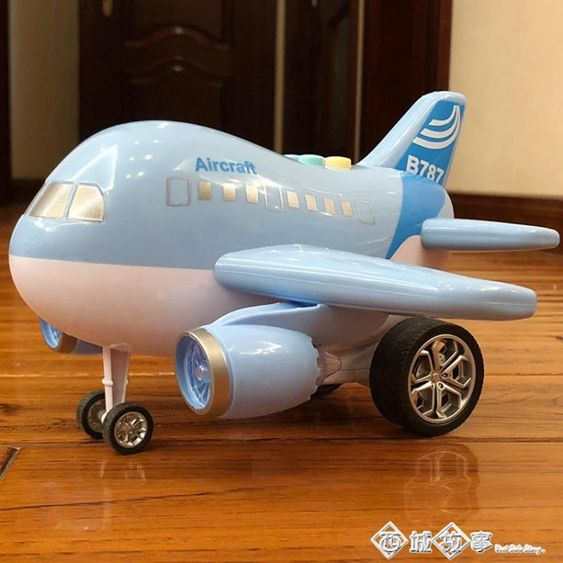 兒童玩具飛機男女孩寶寶玩具3-6周歲慣性滑行仿真音樂小客機模型