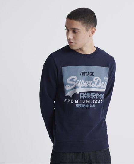 Superdry Organic Cotton Vintage Logo Loopback Sweatshirt