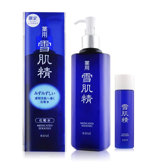 KOSE 高絲 雪肌精(500ml)-限量實惠瓶(按壓式壓頭)+雪肌精乳液(45ml)