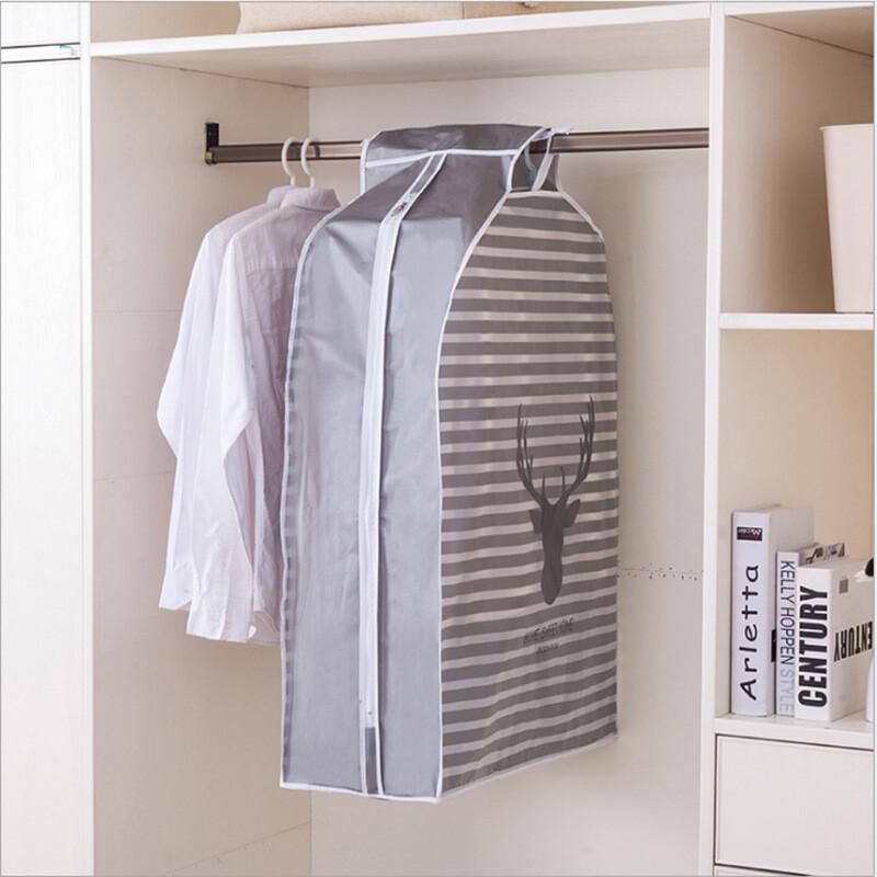 小清新印花立體衣物防塵罩可掛式防皺防塵套(大款