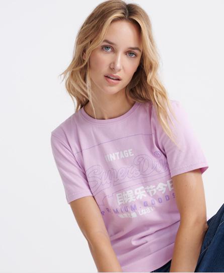 Superdry Organic Cotton Premium Goods Label Outline T-Shirt