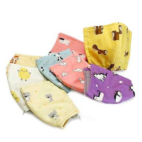 手作 可愛純棉布口罩套 動物系列 兒童專用 3層縫製 100%純棉進口布料 可重複使用