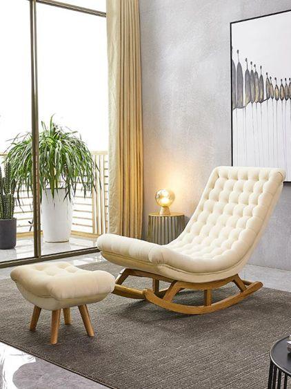 搖搖椅躺椅大人家用北歐陽臺搖椅懶人沙發單人休閒孕婦搖椅小戶型