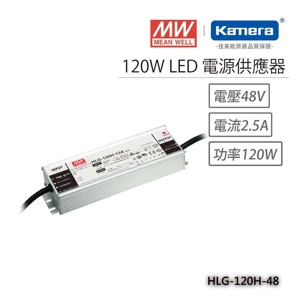 明緯 120W LED電源供應器(HLG-120H-48)