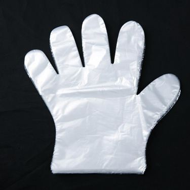 加厚一次性手套餐飲美發手膜食品吃龍蝦透明塑料PE薄膜手套透明套