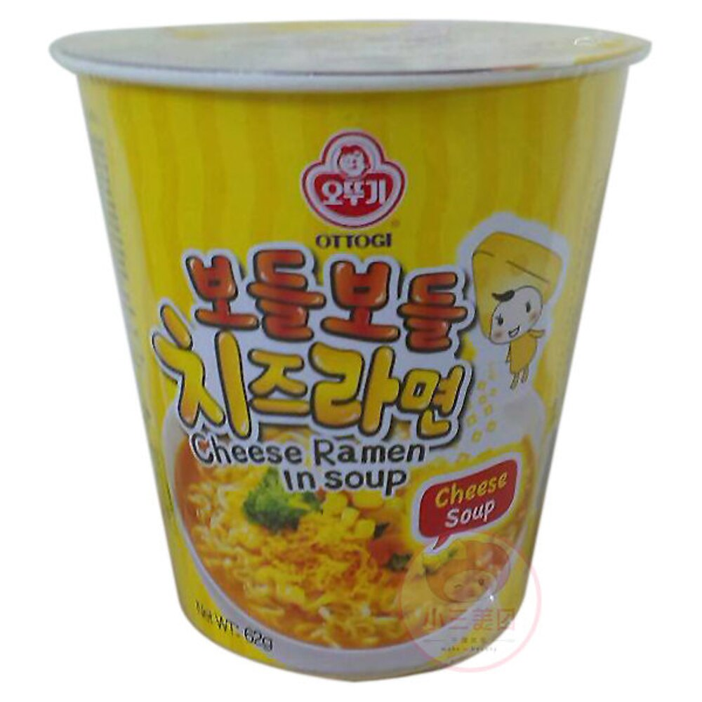 韓國不倒翁 起司風味湯杯麵(1杯裝)【小三美日】◢D571263