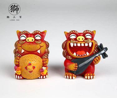 獅三百 阿惠與阿南 獅子文創擺件 開運招財伴手禮 熱賣爆款