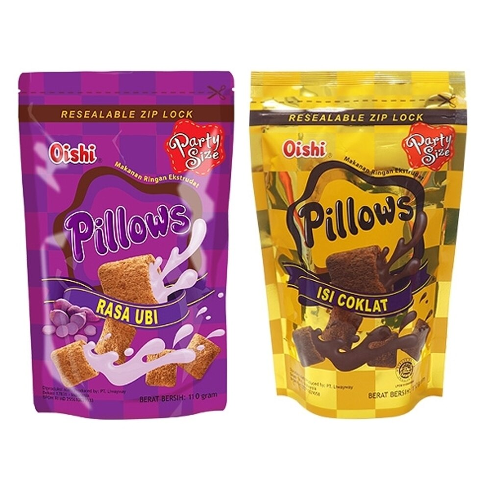 菲律賓Oishi Pillows 紅薯/巧克力/起司/榴槤 枕頭造型餅乾(110g) 款式可選【小三美日】◢D301245