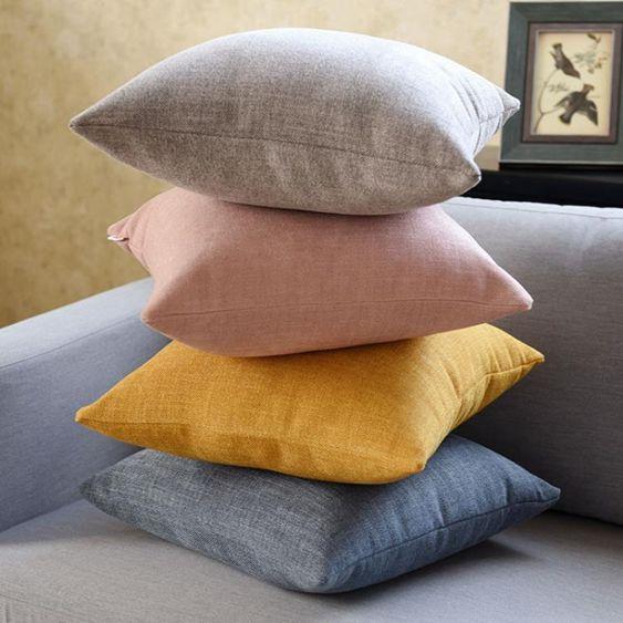 北歐簡約抱枕客廳沙發靠墊套加厚辦公室腰枕靠背枕頭靠背墊不含芯