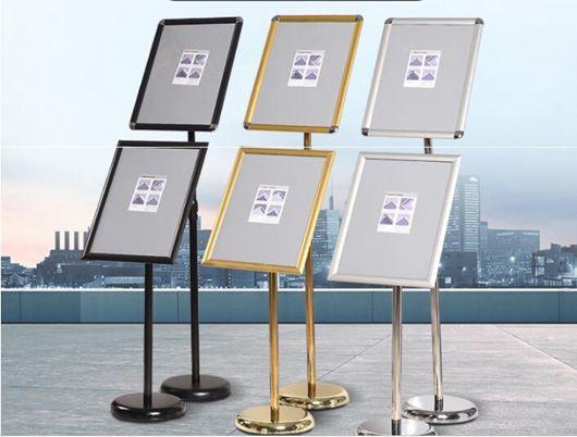不銹鋼立牌指示牌a3A4立式升降廣告牌酒店導向牌水牌展示牌海報架  YDL