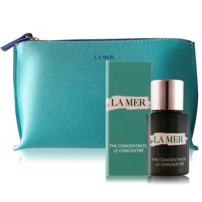 LA MER 海洋拉娜 濃萃修復精華5ml加贈品牌化妝包