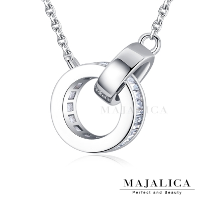 Majalica鎖骨鍊925純銀項鍊女鍊 依戀 銀色白鋯 單個價格(MIT)