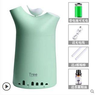 無線加濕器辦公室桌面補水可充電小型便攜式空氣香薰家用臥室房間雙噴霧學生宿舍