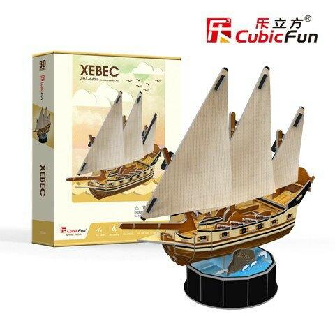 [樂立方3D立體拼圖] 阿拉伯司三角資帆船(T4034H)