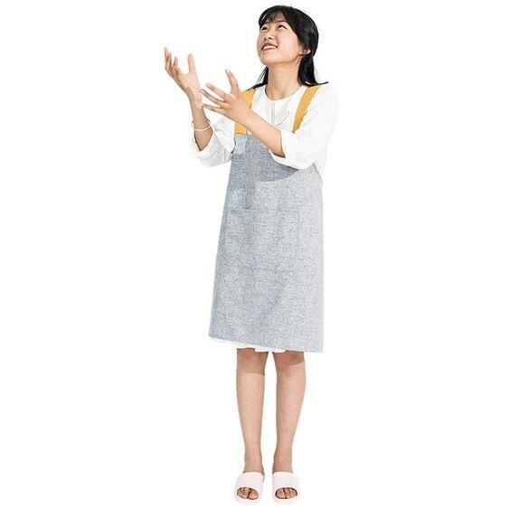 家用圍裙罩衣韓版時尚款廚房防油防水背心式韓式女棉情侶可愛韓國
