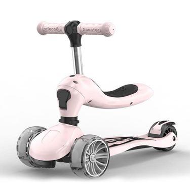 滑板車兒童三合一1-2-3-6歲寶寶可坐4輪小孩初學者男女溜溜車閃光
